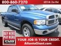 2002 Atlantic Blue Pearl Dodge Ram 1500 SLT Quad Cab 4x4  photo #4