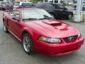 2001 Laser Red Metallic Ford Mustang GT Convertible  photo #2