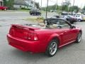 2001 Laser Red Metallic Ford Mustang GT Convertible  photo #3