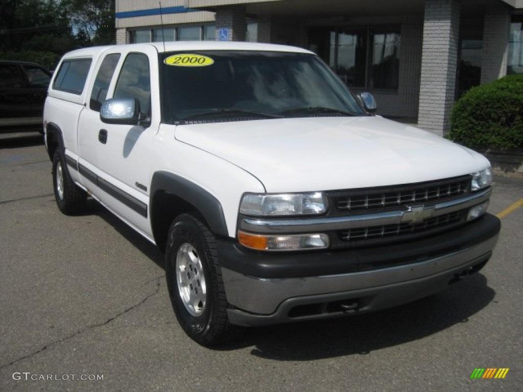 2000 Silverado 1500 LS Extended Cab 4x4 - Summit White / Graphite photo #1