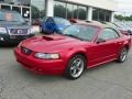 2001 Laser Red Metallic Ford Mustang GT Convertible  photo #17