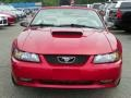 2001 Laser Red Metallic Ford Mustang GT Convertible  photo #22