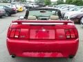 2001 Laser Red Metallic Ford Mustang GT Convertible  photo #23