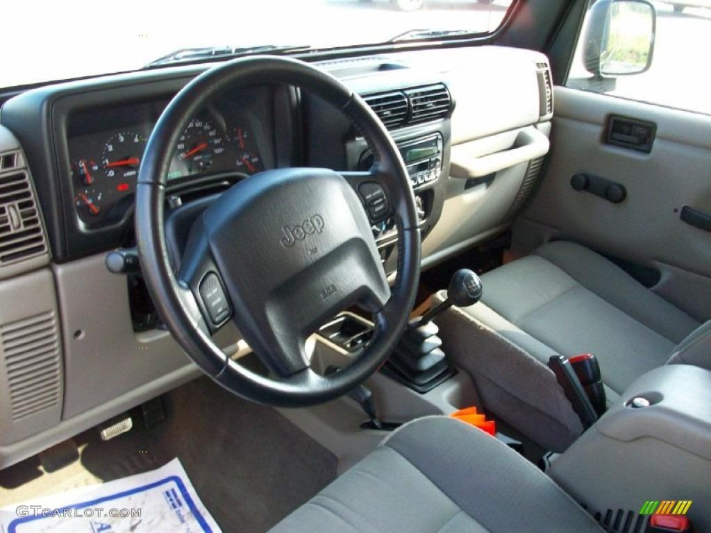 Dark Slate Gray Interior 2003 Jeep Wrangler Sahara 4x4