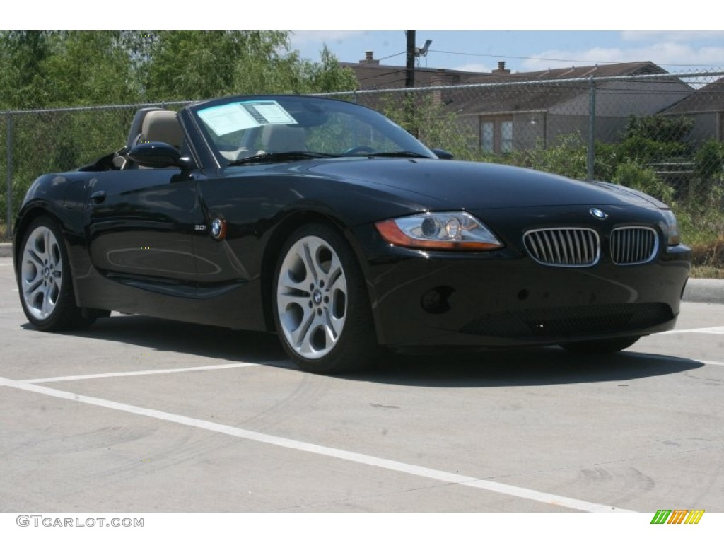 Jet Black 2004 Bmw Z4 3 0i Roadster Exterior Photo