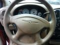 2003 Chrysler Voyager Taupe Interior Steering Wheel Photo