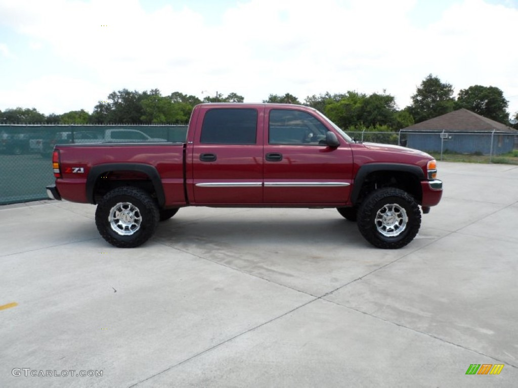 2005 gmc sierra 1500 z71 crew cab 4x4 custom wheels photo 50512408