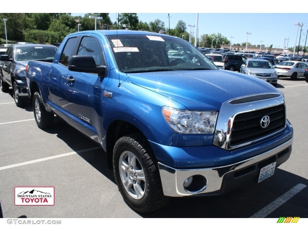 2008 Tundra SR5 Double Cab 4x4 - Blue Streak Metallic / Black photo #1