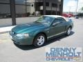 2002 Electric Green Metallic Ford Mustang V6 Convertible  photo #1