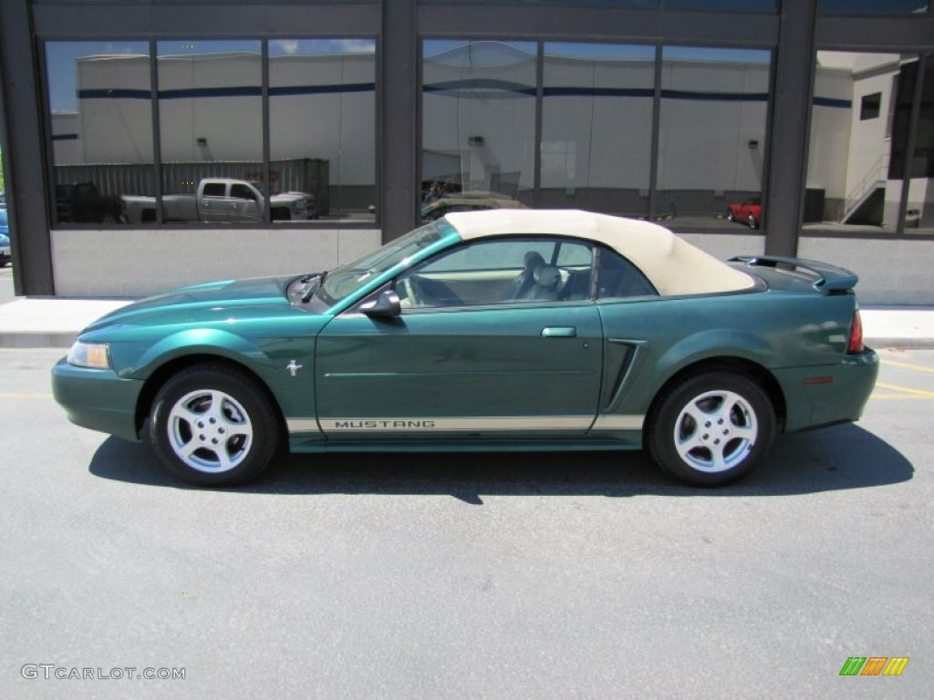 Electric Green Metallic 2002 Ford Mustang V6 Convertible Exterior Photo #50526994