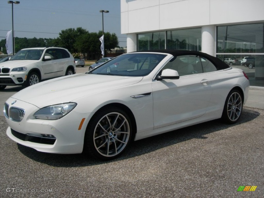 alpine white 2012 bmw 6 series 650i convertible exterior. Black Bedroom Furniture Sets. Home Design Ideas