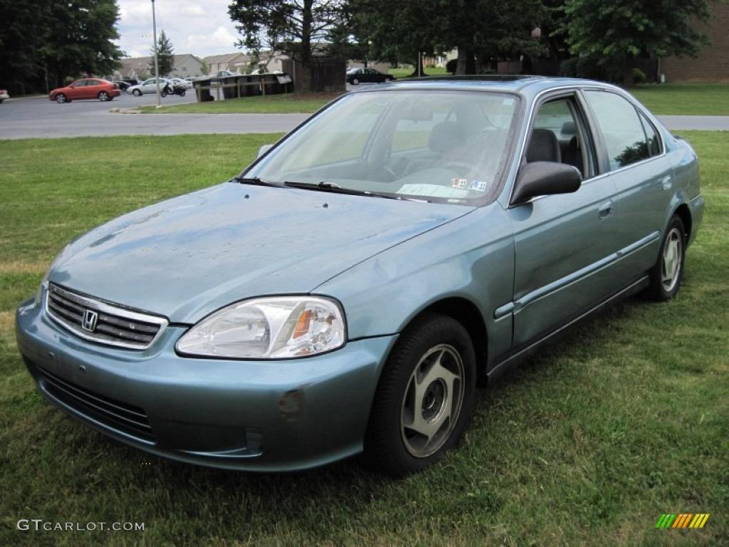 1999 Honda Civic Lx >> 1999 Iced Teal Pearl Honda Civic Lx Sedan 50502116 Photo 3