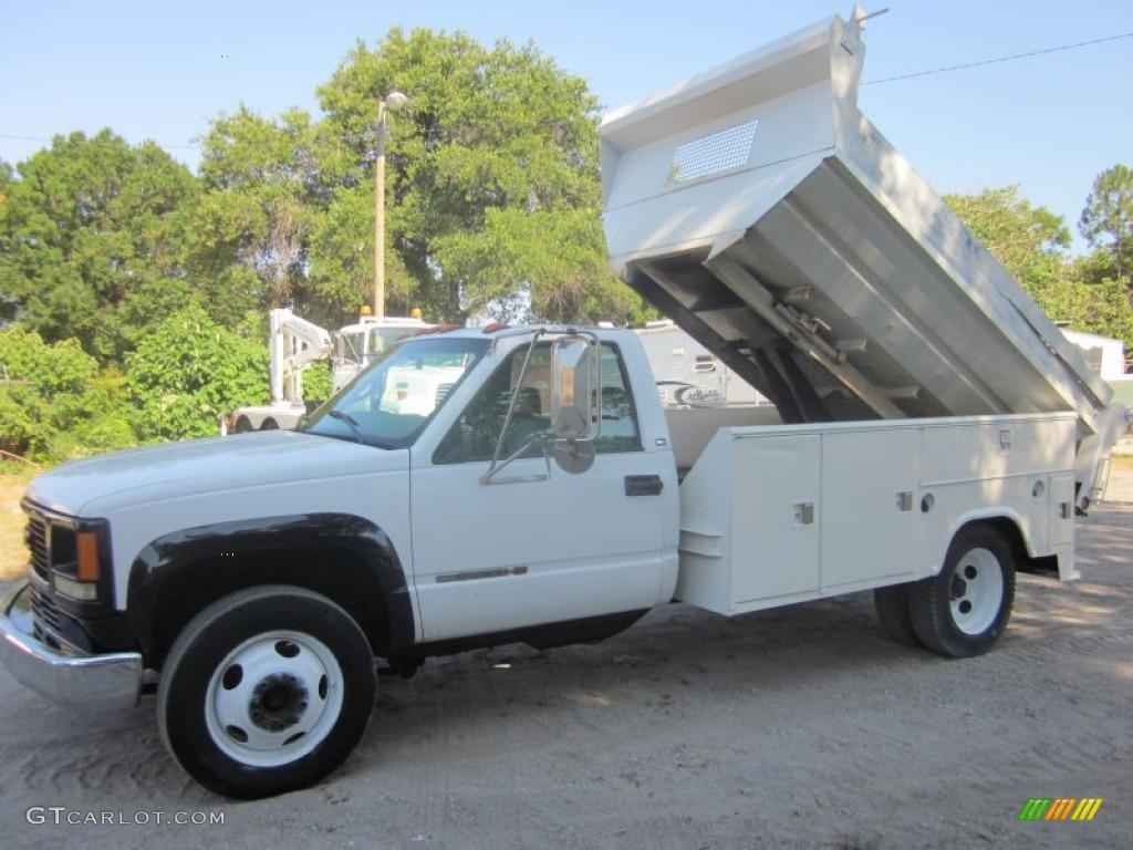 1998 Olympic White Gmc Sierra 3500 Sl Regular Cab Dump Truck  50502119