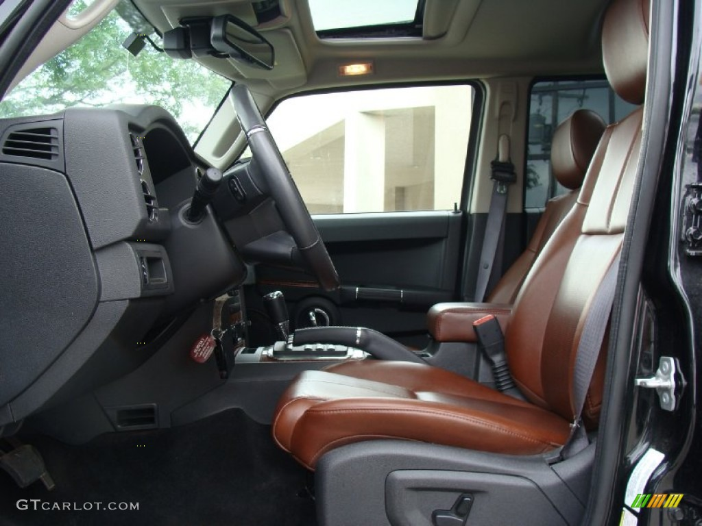 saddle brown interior 2009 jeep commander limited 4x4 photo 50531281. Black Bedroom Furniture Sets. Home Design Ideas