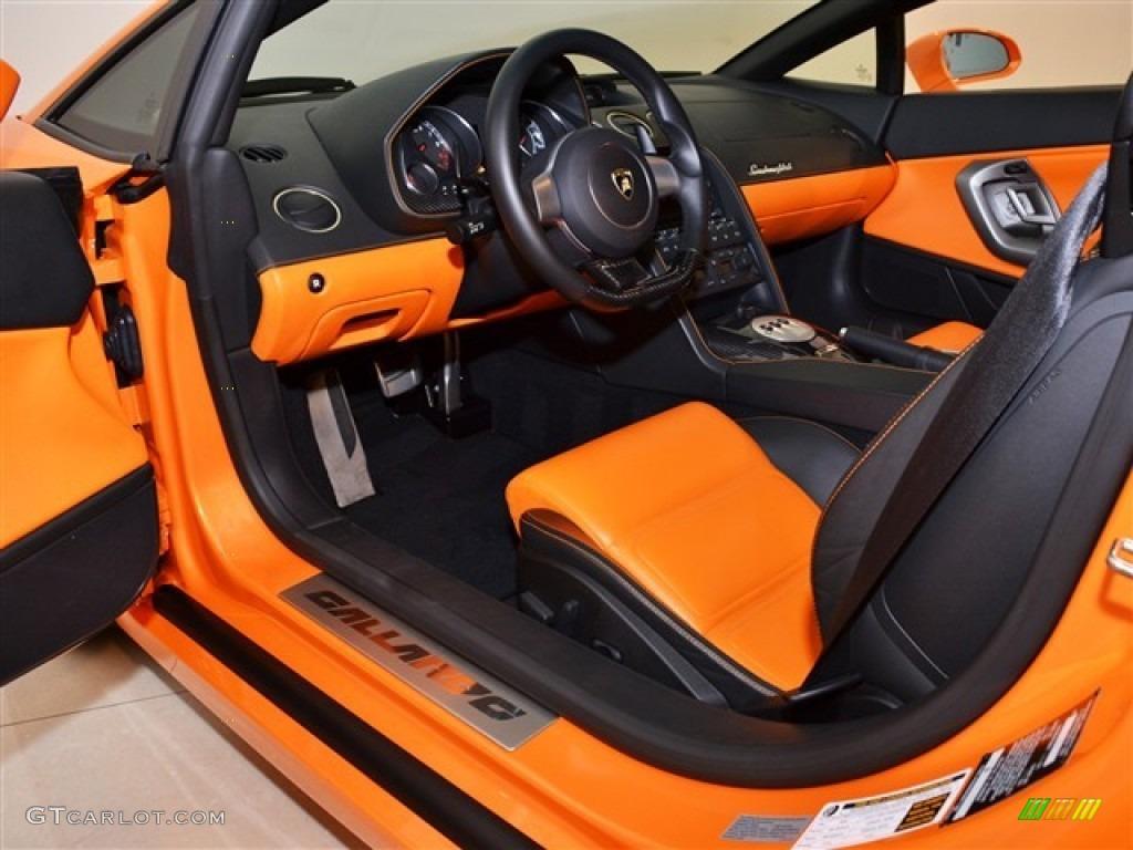 Nero Perseus Orange Interior 2008 Lamborghini Gallardo Coupe Photo 50550340 Gtcarlot Com