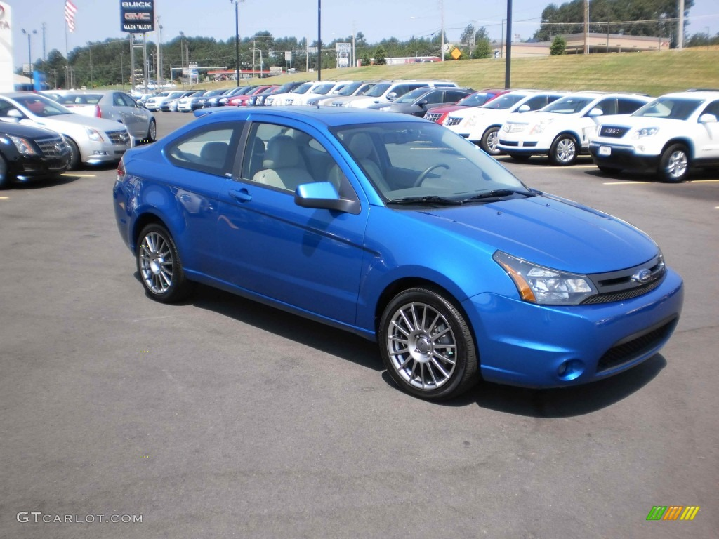 blue flame metallic 2010 ford focus ses coupe exterior. Black Bedroom Furniture Sets. Home Design Ideas