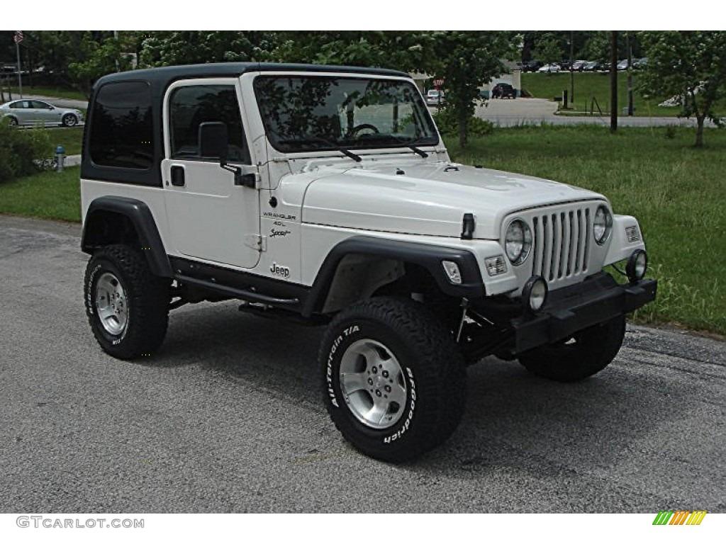 Elegant Stone White Jeep Wrangler. Jeep Wrangler Sport 4x4