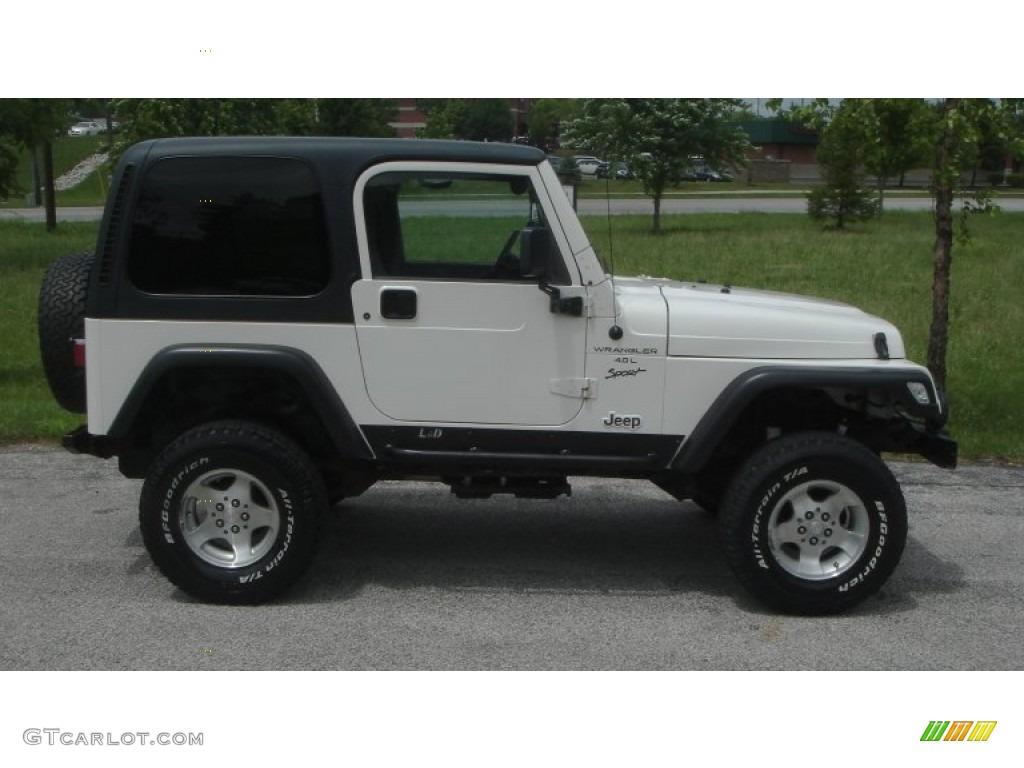 stone white 1999 jeep wrangler sport 4x4 exterior photo. Black Bedroom Furniture Sets. Home Design Ideas