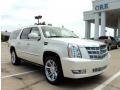 White Diamond Tricoat 2011 Cadillac Escalade ESV Platinum