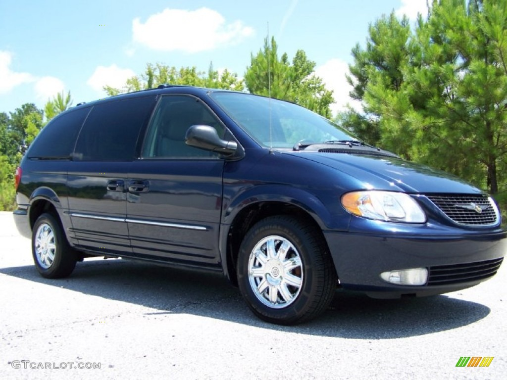 midnight blue pearlcoat 2004 chrysler town country limited exterior photo 50561347. Black Bedroom Furniture Sets. Home Design Ideas