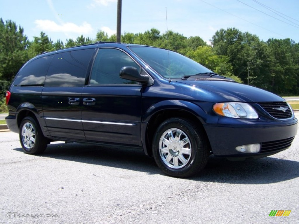 midnight blue pearlcoat 2004 chrysler town country limited exterior photo 50562028. Black Bedroom Furniture Sets. Home Design Ideas