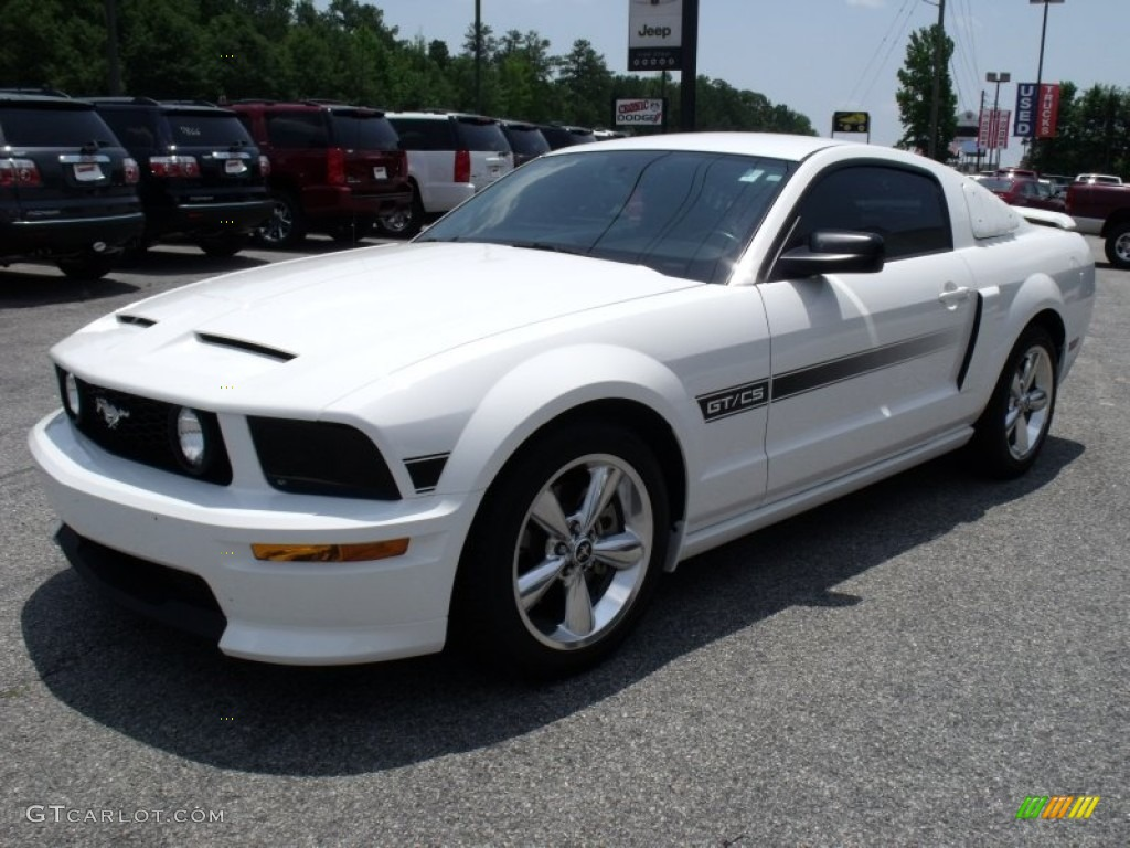 2007 Mustang Gt Cs California Special Coupe Performance White Black Dove Accent