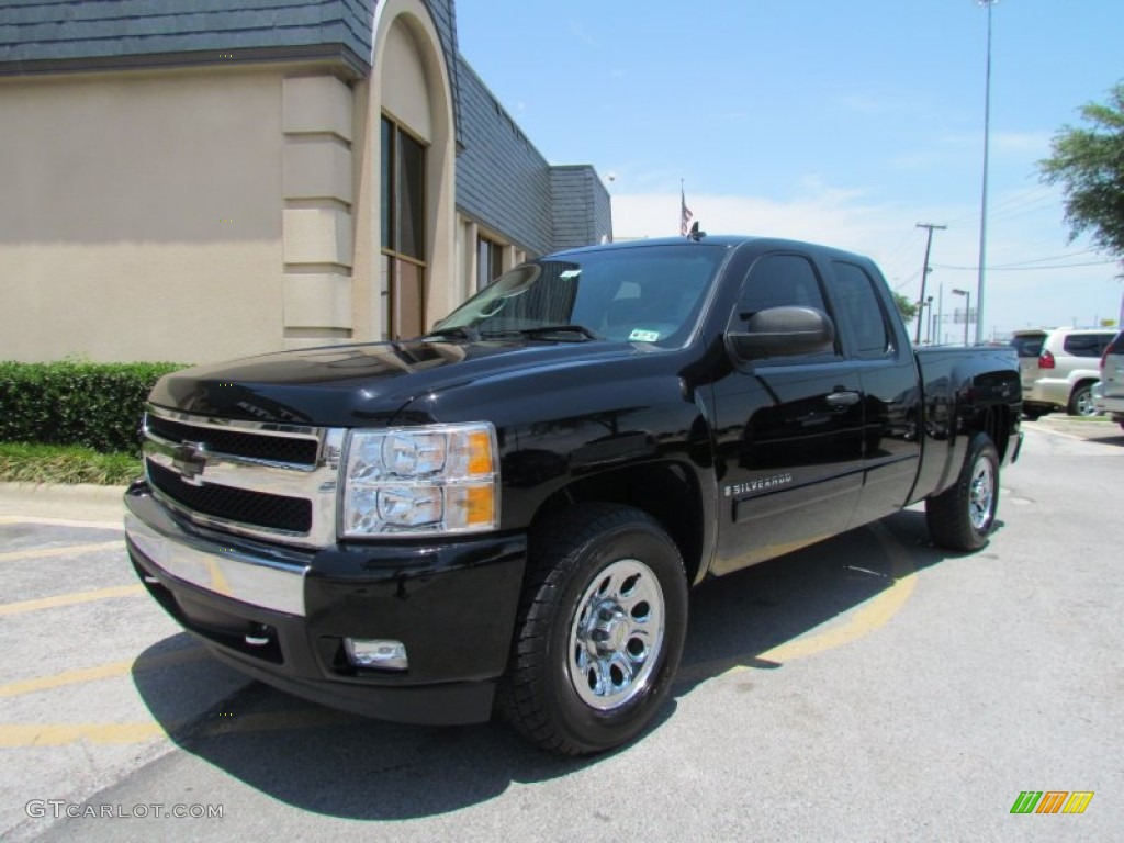 black 2008 chevrolet silverado 1500 lt extended cab exterior photo 50580742. Black Bedroom Furniture Sets. Home Design Ideas