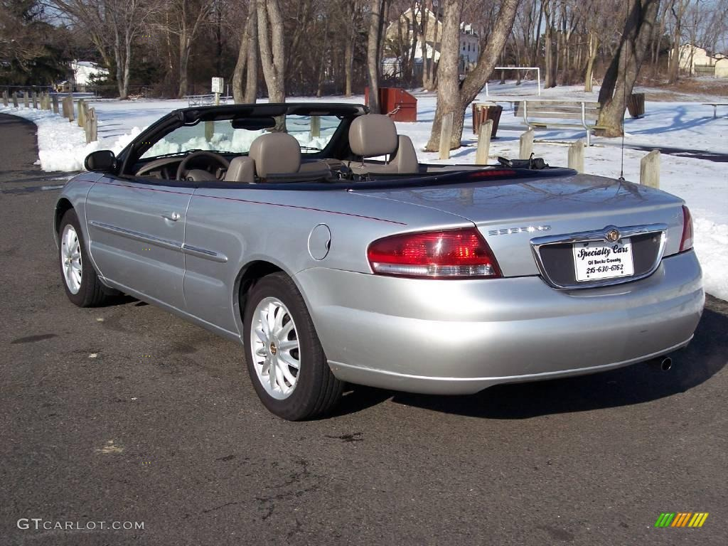 2002 Sebring LXi Convertible - Brilliant Silver Metallic / Sandstone photo #11