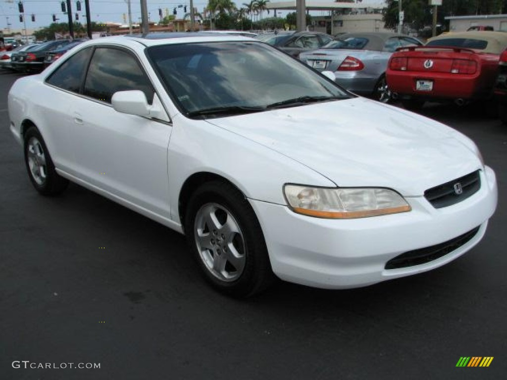 2000 honda accord ex v6 coupe taffeta white color ivory interior 2000    Honda Accord 2000 Coupe