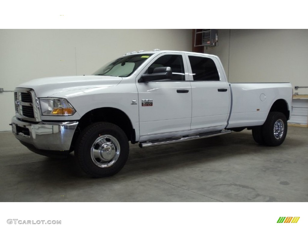 2011 bright white dodge ram 3500 hd st crew cab 4x4 dually 50550025 car color. Black Bedroom Furniture Sets. Home Design Ideas