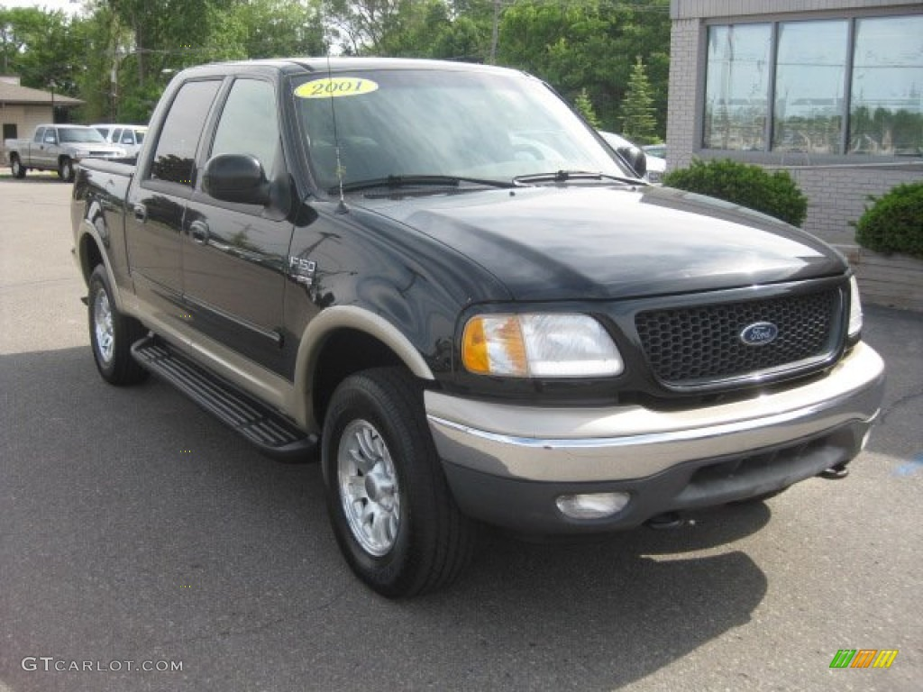 2001 ford f150 lariat supercrew 4x4 black color medium parchment. Cars Review. Best American Auto & Cars Review