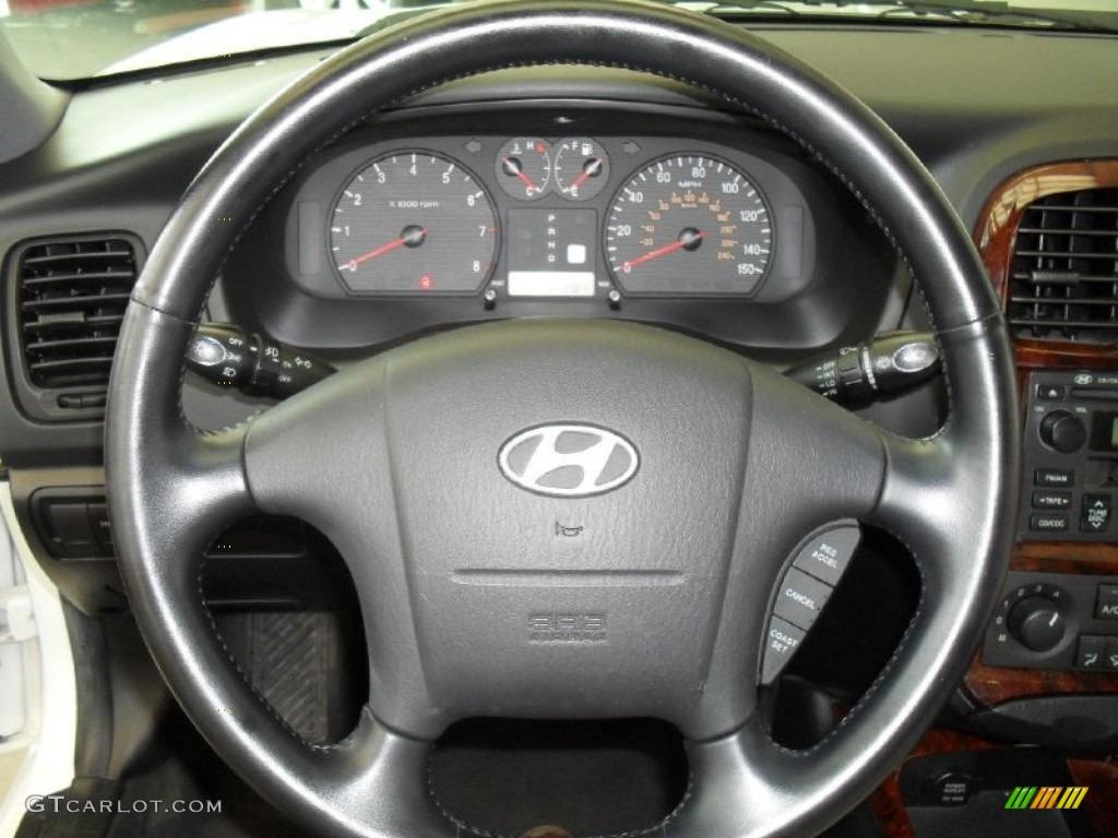 2002 Hyundai Sonata Gls V6 Black Steering Wheel Photo