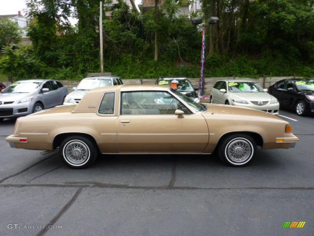 Sungold metallic 1987 oldsmobile cutlass supreme coupe exterior photo 50610411