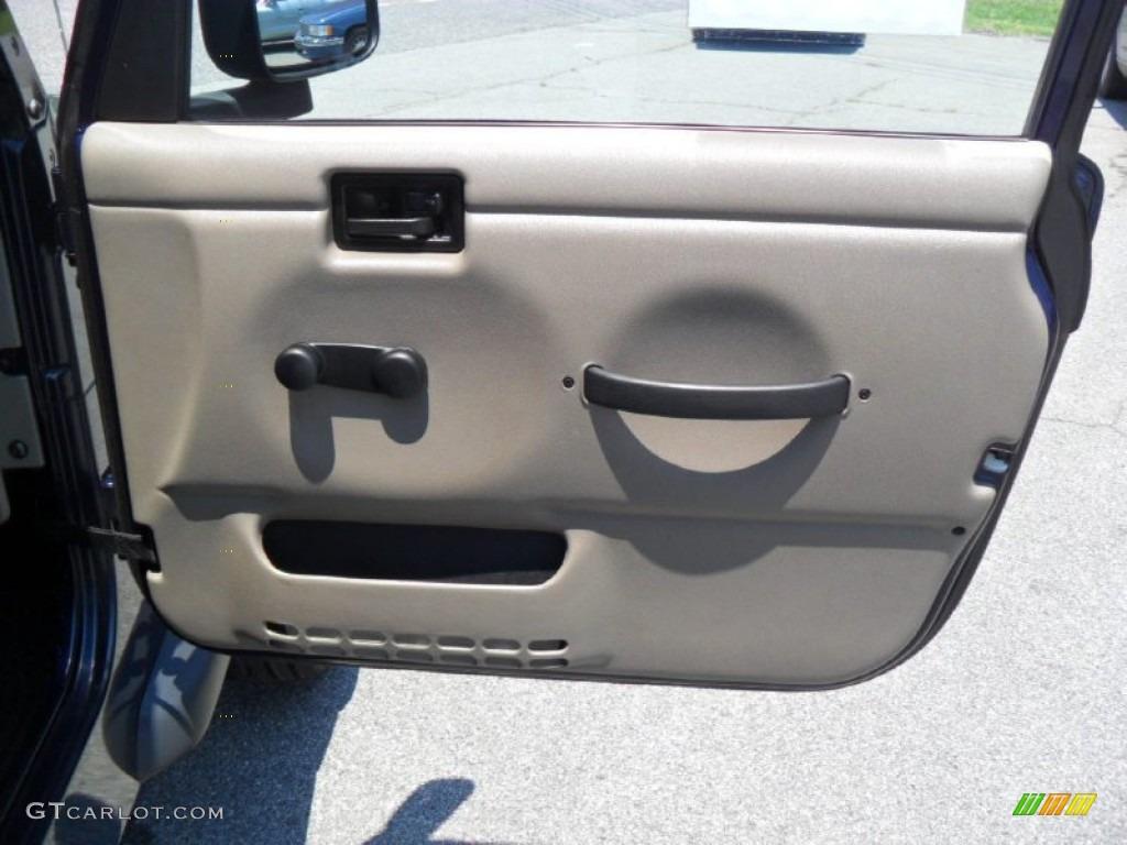 2006 Jeep Wrangler Sport 4x4 Golden Eagle Door Panel
