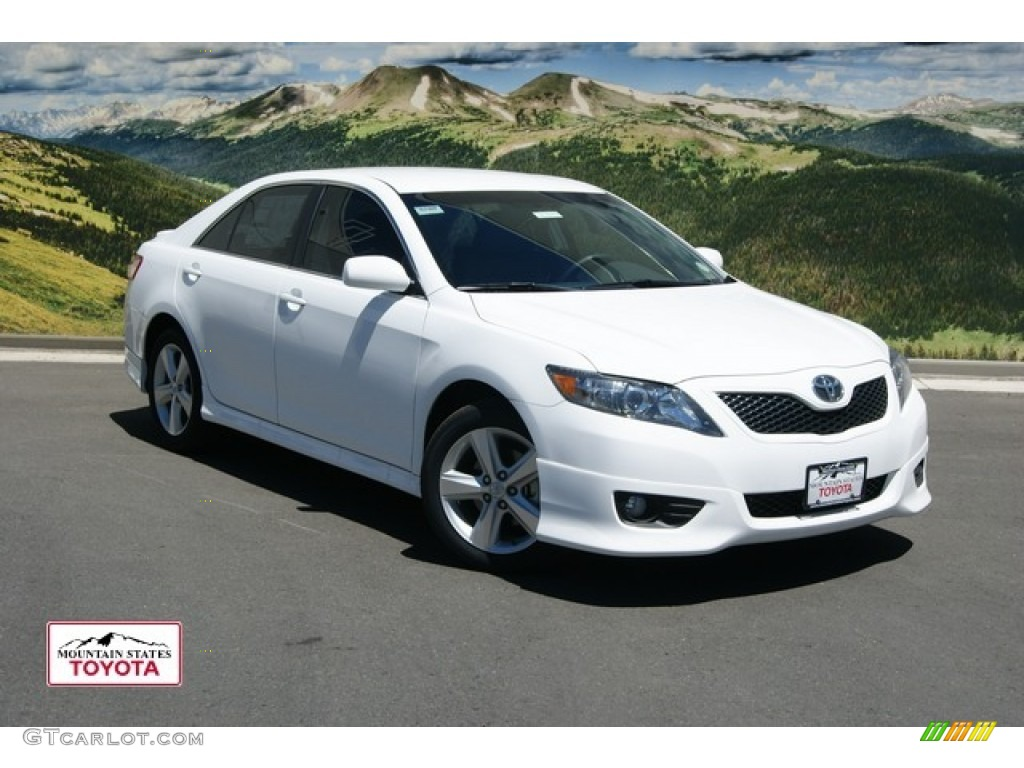 2011 camry se v6 super white ash photo 1