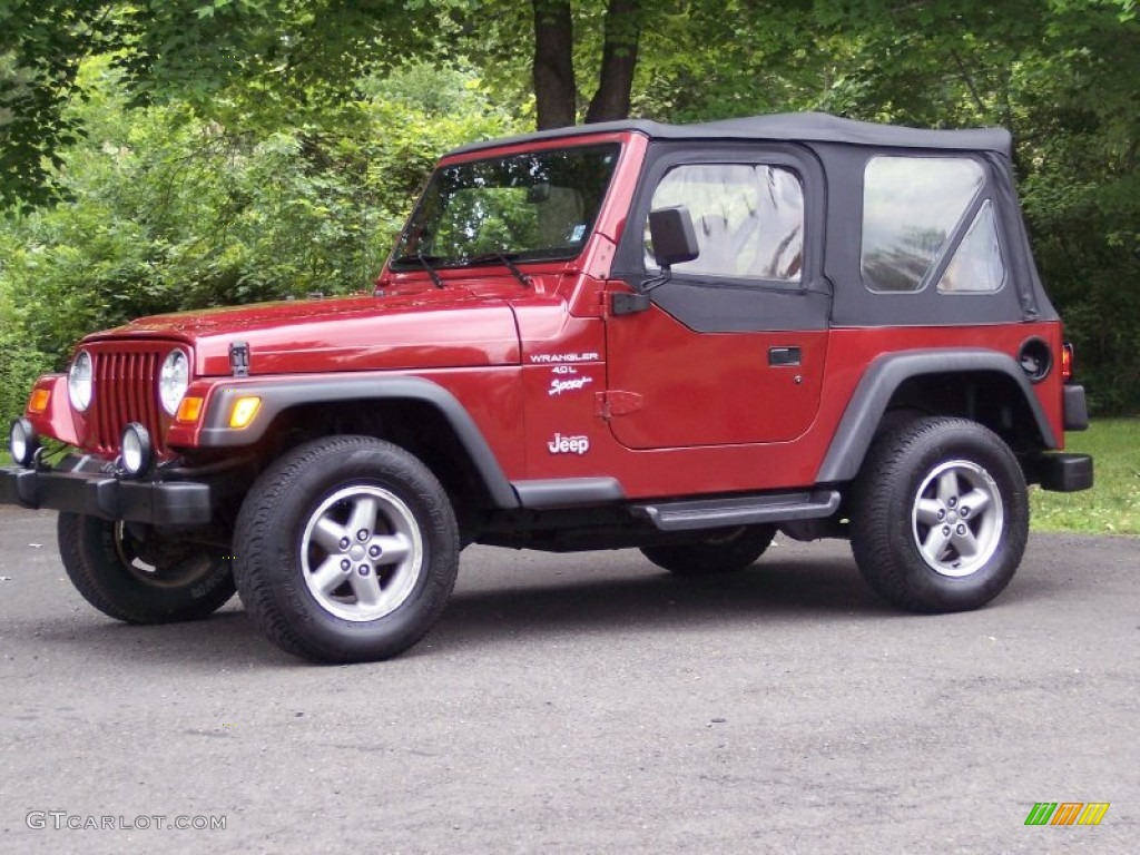 Chili pepper red pearl jeep wrangler jeep wrangler sport 4x4