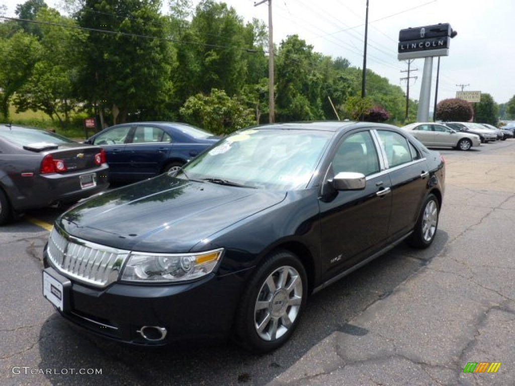 2008 MKZ Sedan - Dark Blue Ink Metallic / Light Stone photo #1