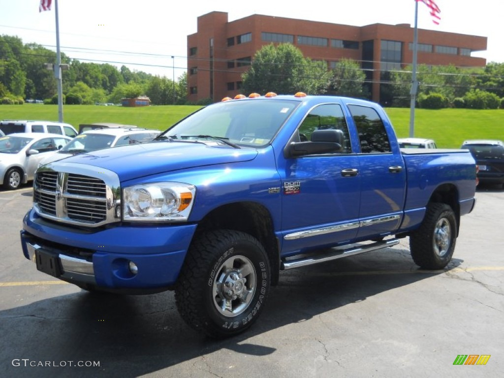 Electric Blue Pearl 2007 Dodge Ram 2500 Laramie Quad Cab 4x4 Exterior Photo 50626482 Gtcarlot Com