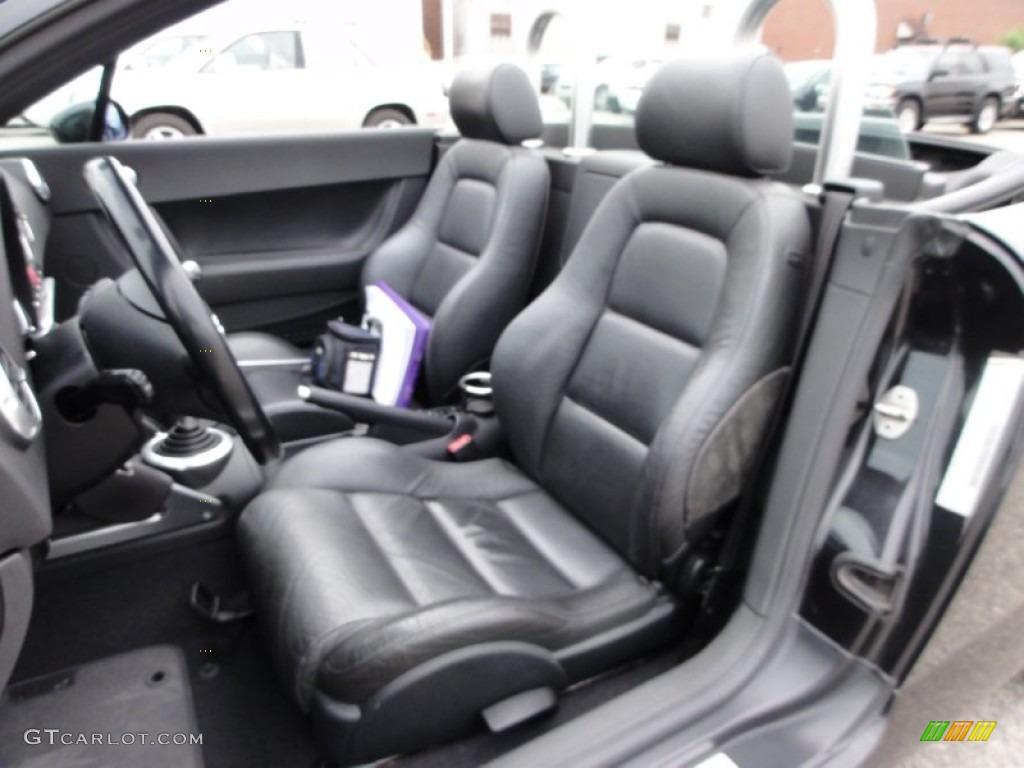 Ebony Black Interior 2001 Audi Tt 1 8t Quattro Roadster
