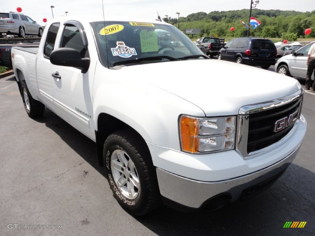 summit white 2007 gmc sierra 1500 sle extended cab 4x4 exterior photo 50634012. Black Bedroom Furniture Sets. Home Design Ideas