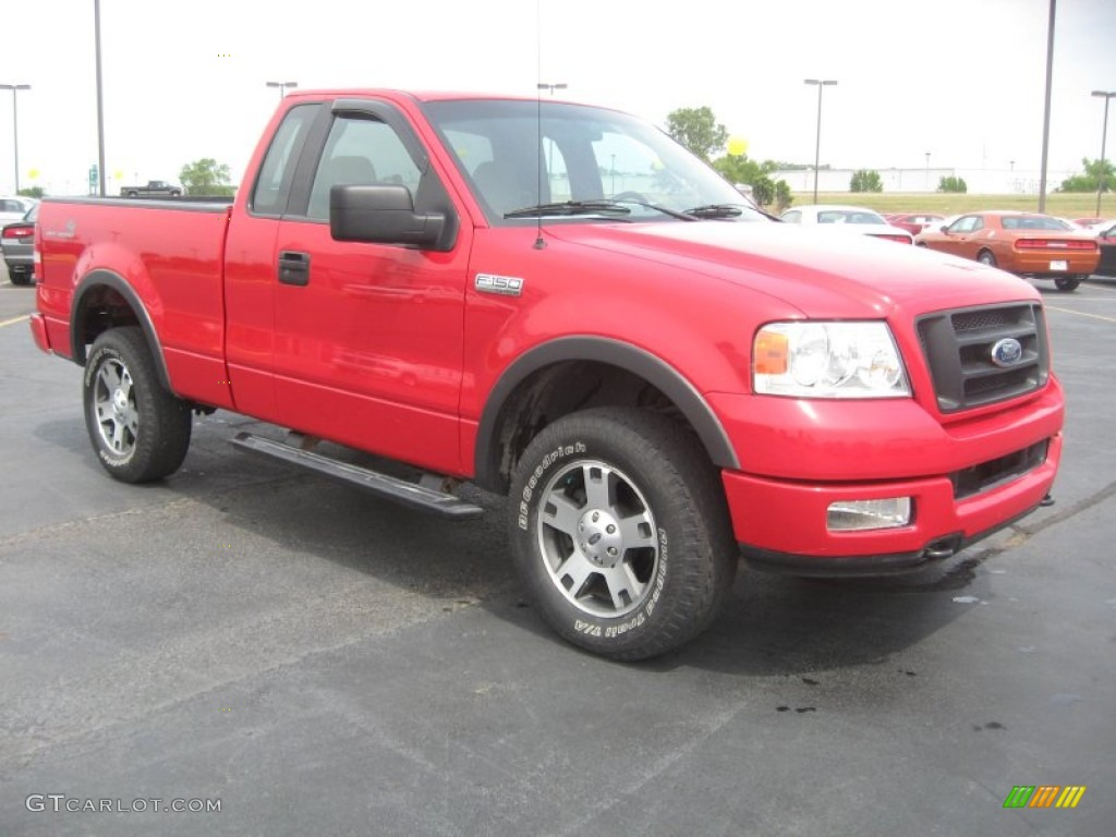 bright red 2004 ford f150 fx4 regular cab 4x4 exterior. Black Bedroom Furniture Sets. Home Design Ideas