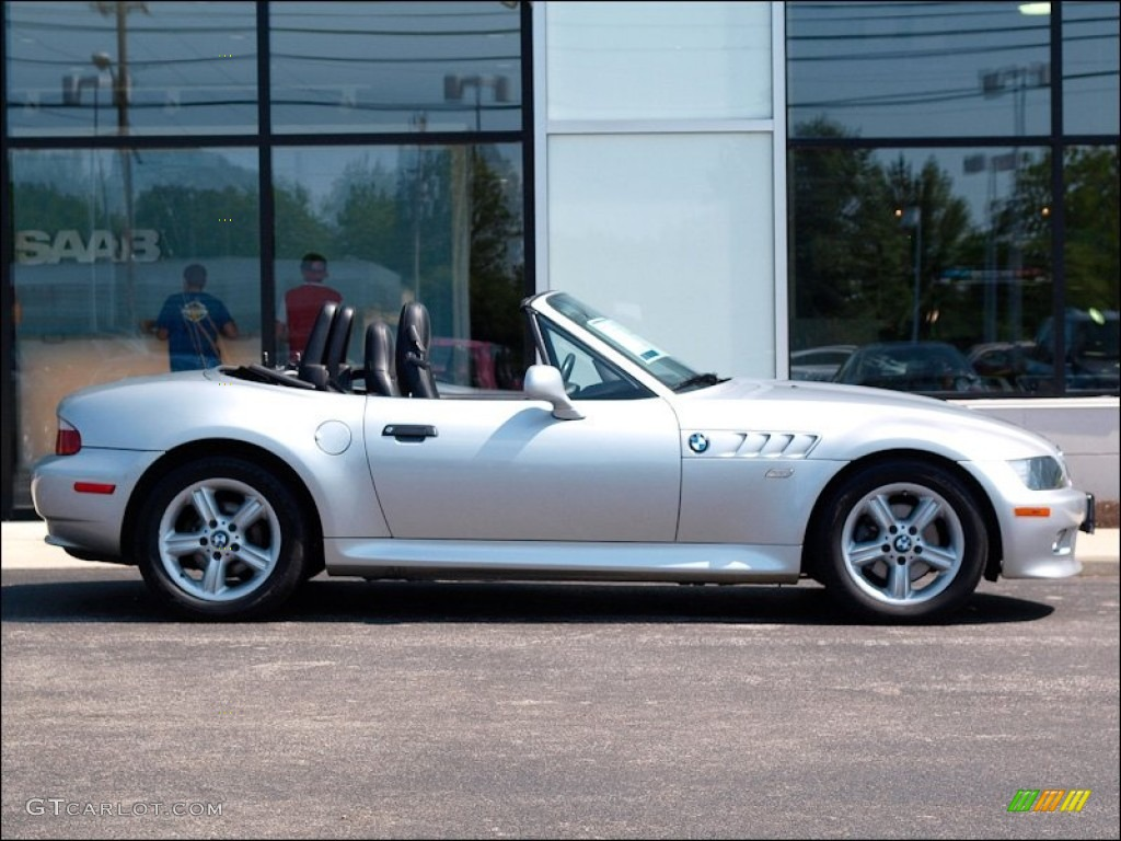 titanium silver metallic 2000 bmw z3 2 3 roadster exterior. Black Bedroom Furniture Sets. Home Design Ideas