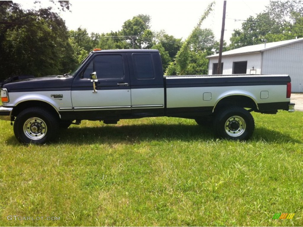 1996 f250 xl extended cab 4x4 black grey photo 3