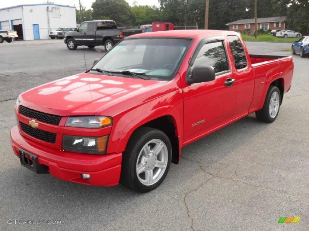 victory red 2005 chevrolet colorado ls extended cab exterior photo 50657438. Black Bedroom Furniture Sets. Home Design Ideas