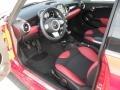 Black/Rooster Red Prime Interior Photo for 2009 Mini Cooper #50658665