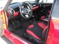 Black/Rooster Red Interior Photo for 2009 Mini Cooper #50658695