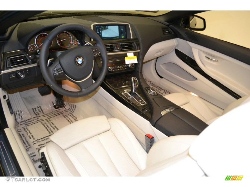 ivory white nappa leather interior 2012 bmw 6 series 650i