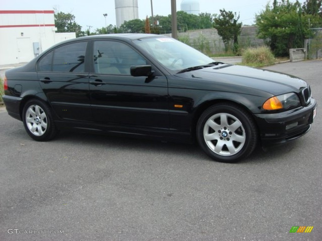Jet black 2001 bmw 3 series 325i sedan exterior photo 50682266