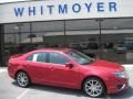 2011 Red Candy Metallic Ford Fusion SE  photo #1