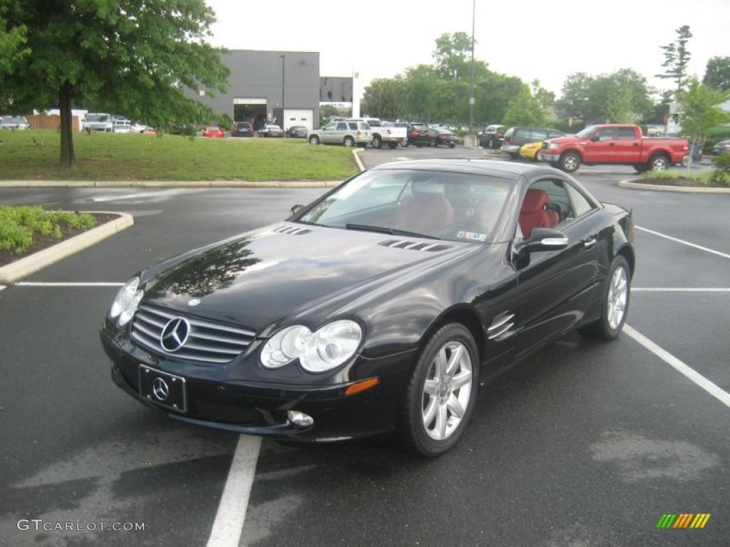 Black 2003 mercedes benz sl 500 roadster exterior photo for Mercedes benz sl 500 2003